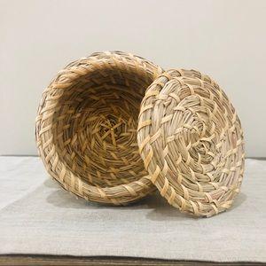 Boho Small Wicker Basket